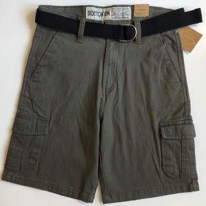 Distortion Boys Twill Cargo Shorts Size 14 NWT